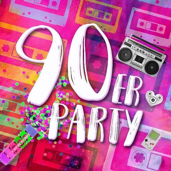 Die bunte 90er Party